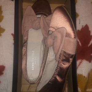 kenneth cole dusty rose ballet flats with bow
